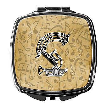 Letter S Musical Instrument Alphabet Compact Mirror