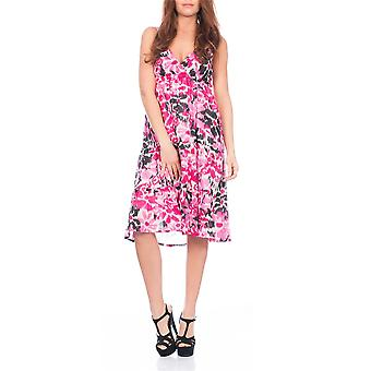 Pistachio, Ladies Cross Front Floral Summer Holiday Dress