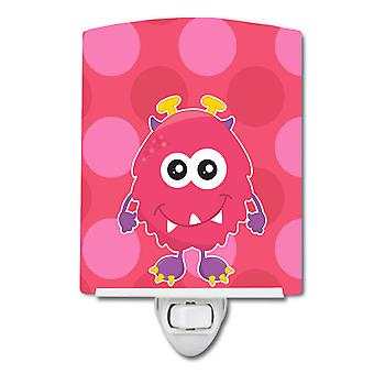 Carolines Treasures  BB8845CNL Monster Pink Bly Ceramic Night Light