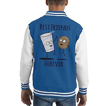 Cookie And Milk Best Friends Forever Kid's Varsity Jacket
