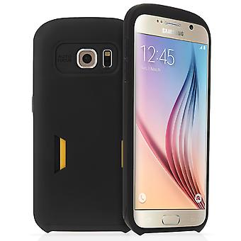 Samsung Galaxy S6 custodia rigida con Card slot opaco - nero