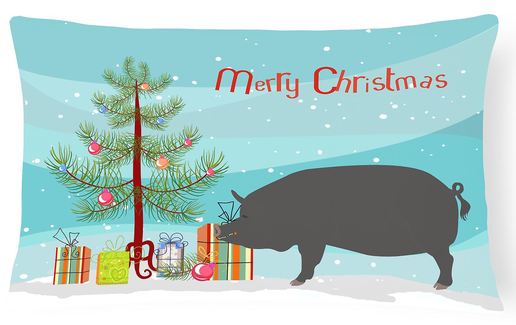Christmas Pillow Canvas Decorative Berkshire Fabric Pig OZuikPX