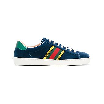 Gucci men 473763FASK04268 blue cotton of sneakers