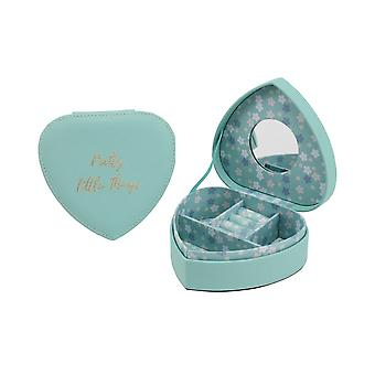 CGB Giftware Willow And Rose Teal Heart Jewellery Box