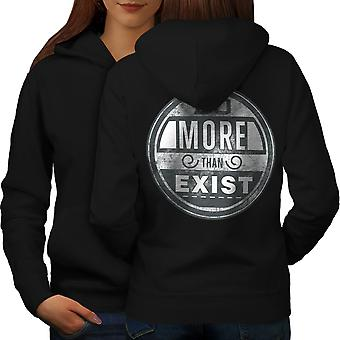 Do More Than Exist Women BlackHoodie Back | Wellcoda