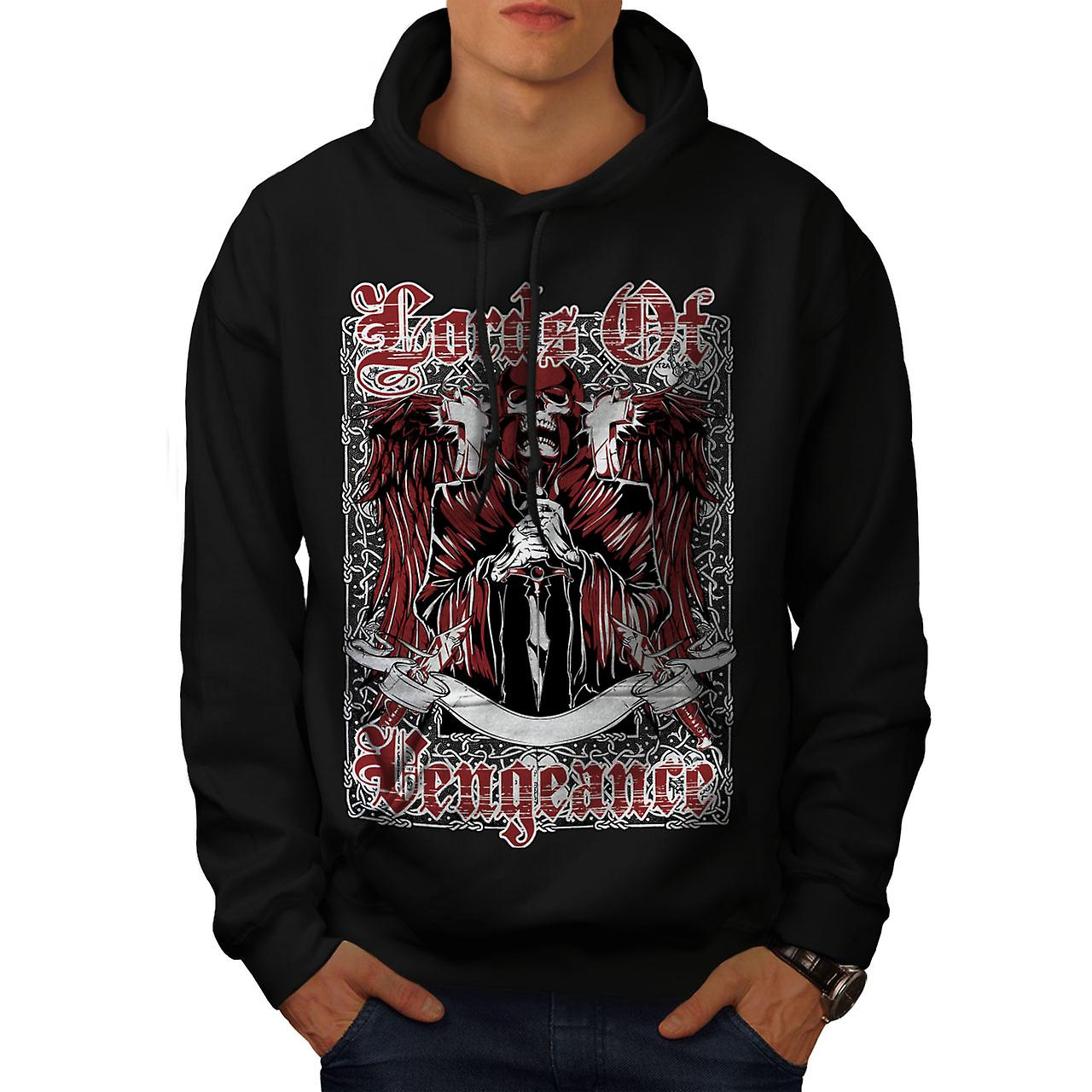 Lords Of Vengeance Skull Men Black Hoodie | Wellcoda