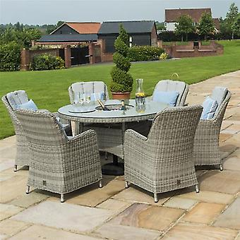 Maze Rattan Oxford 6 Seat Venice Round Dining Set with Ice Bucket