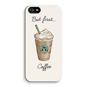 iPhone 5C Full Print Case - But first coffee