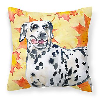 Carolines Treasures  BB9914PW1414 Dalmatian Fall Fabric Decorative Pillow