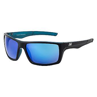 Dirty Dog Primp Sunglasses - Satin Black Xtal Blue