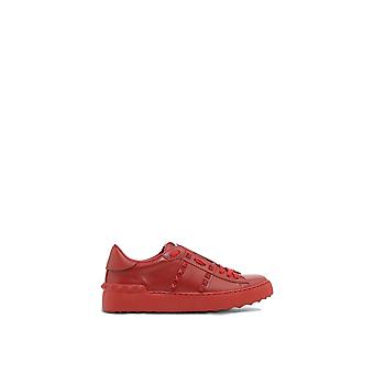 Valentino Garavani ladies PW2S0A01MZD0RO red leather of sneakers