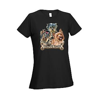 Women's Ladies T Shirt Yorkshire Dogs