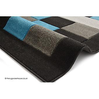 Sutu schwarz blau Teppich