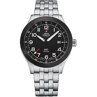 Swiss military mens watch GMT SM34053. ST11M / SM34053. 03