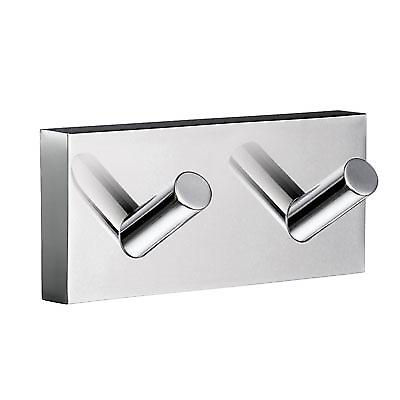 House Double Towel Hook - Polished Chrome RK356