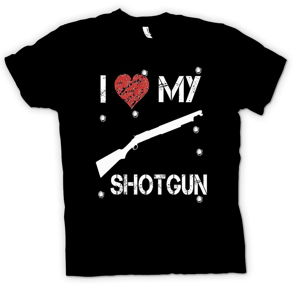 Womens T-shirt -  I Love My Shotgun