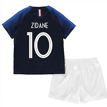 2018-2019 Frankrike hem Nike Mini Kit (Zidane 10)