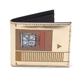 Nintendo Legend of Zelda Mens Cartridge Bi-fold Wallet Gold (MW758758ZEL)
