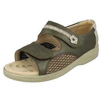 Ladies Padders Open Toe Sandals Graceful - Metallic Combi Leather - UK Size 4.5 3E/4E - EU Size 38 - US Size 6.5