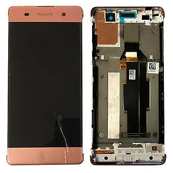 Sony vise LCD komplet enhed med ramme for Xperia XA F3111 F3112 Rosegold reservedele