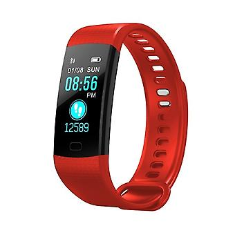 Y5 Multifunctional Task bracelet with color display-red