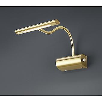 Trio illuminazione moderna Curtis ottone lampada da parete in metallo Matt