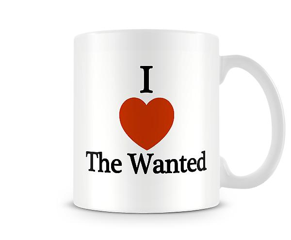 I Love The Wanted Gedrukte Mok