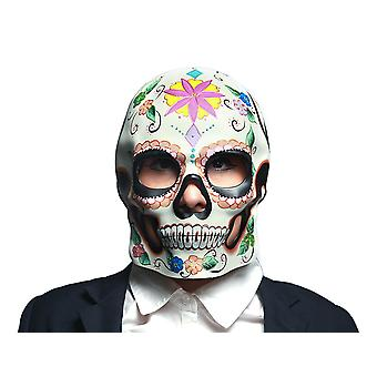 Colorful Floral Design Day of the Dead Sugar Skull Mask / Wall Hanging