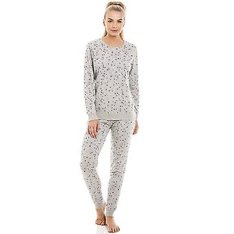 Camille Womens Grey Star Print Lightweight Pyjama Set