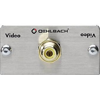 Oehlbach RCA Digital Adapter [1x RCA socket (phono) - 1x Soldering] Aluminium , Gold gold plated connectors
