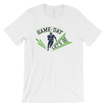GAME DAY for Seattle T-Shirt Mens White Graphic Tee Gift For Him