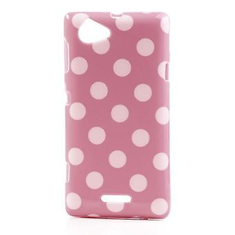 Schutzhülle für Handy Sony Xperia L S36h rosa