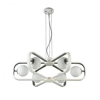 Maytoni Lighting Avola Modern Chandelier , White + Silver