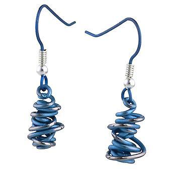 Ti2 Titanium Chaos Small Drop Earrings - Sky Blue