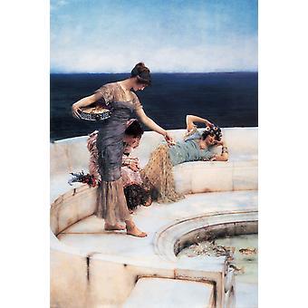 Silber-Favoriten, Sir Lawrence Tadema, 69,1 x 42,2 cm