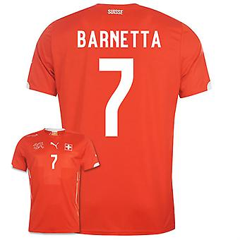2014-15 Zwitserland World Cup Home Shirt (Barnetta 7)