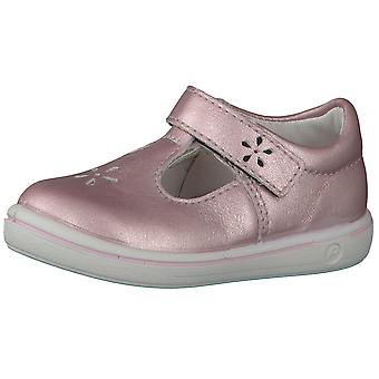 Ricosta Pepino Girls Winona T-bar Shoes Rose Pink Metallic