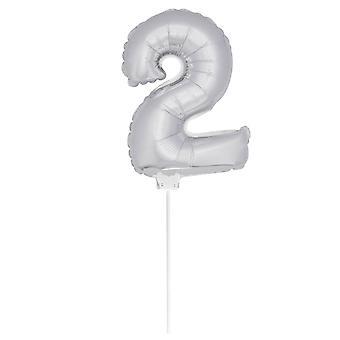 Folie ballong tall ballongen figur 2 luft oppblåsbare 36 cm ballong
