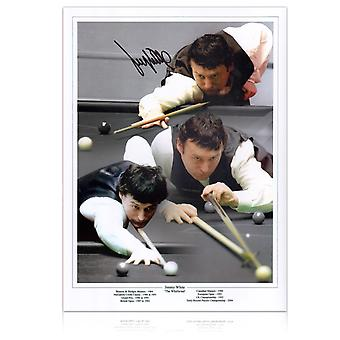Signed Jimmy White Snooker Photo: The Whirlwind