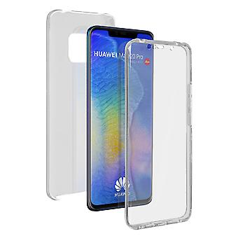 Silicone case + back cover in polycarbonate for Huawei Mate 20 Pro - Transparent