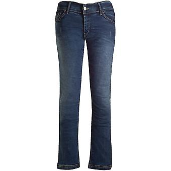 Bull-It Blue Vintage SR6 Straight - Long Womens Motorcycle Jeans