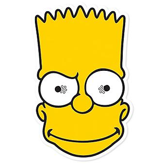 Bart Simpson-Party-Karte Face Mask (Die Simpsons)