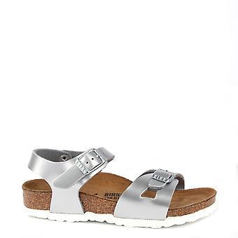 Birkenstock Kids Rio Metallic Silver Sandal