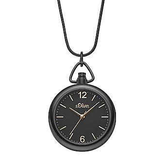 s.Oliver Damen Uhr Umhängeuhr Edelstahl SO-3794-MQ