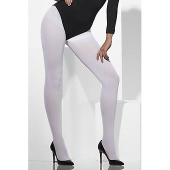 Opaque Tights, White Fancy Dress Accessory