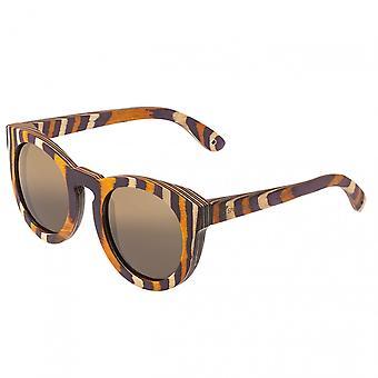 Spektrums Kräfte Holz polarisierte Sonnenbrille - Multi/braun