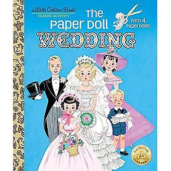 Papper docka bröllop (liten gyllene bok)