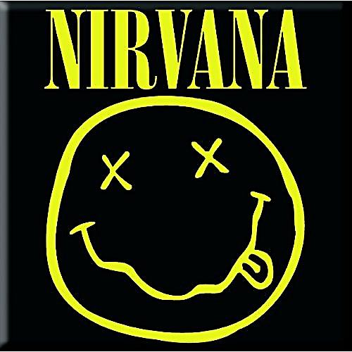 Nirvana Smiley steel fridge magnet (ro)