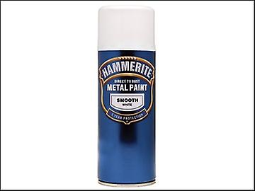 Hammerite Direct to Rust Smooth Finish Aerosol White 400ml