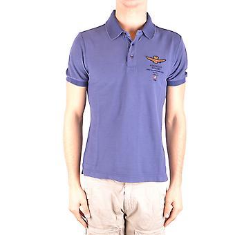 Aeronautica Militare blauer Baumwolle Polo-Shirt
